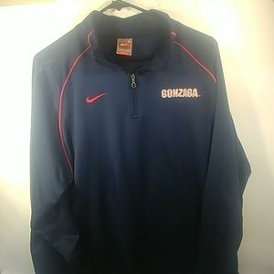 Nike Large Gonzaga Coaches Pullover Blue & Red